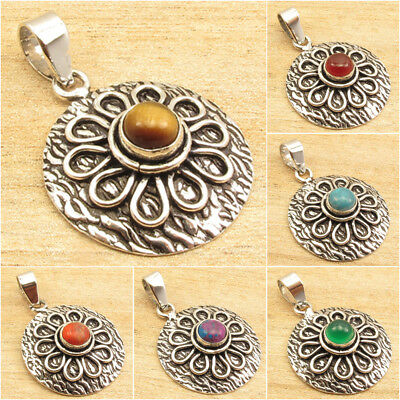925 Silver ETHNIC Oxidized Pendant ! Vintage Style Discount Jewelry