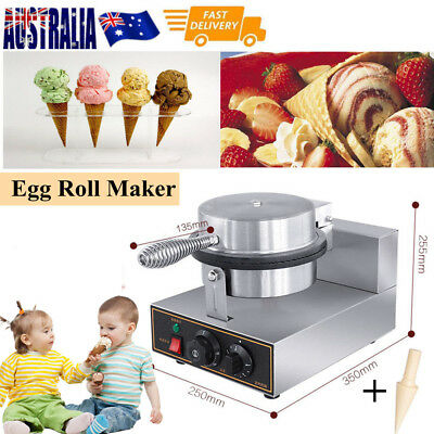 2 Sets Egg Roll Waffle Baker Machine-Commercial Nonstick Ice Cream Cone Maker