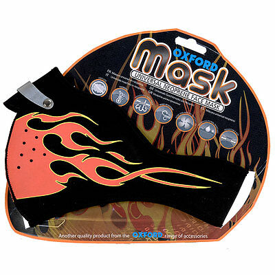 Oxford Mask Motorcycle Motorbike Universal Neoprene Flames Face Mask