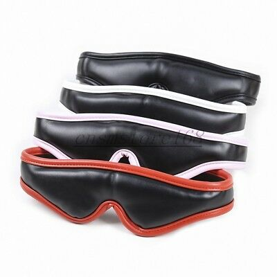 Sexy Eye Mask Padded Leather Blindfold Cover Travel Sleeping Nap Fancy Gift