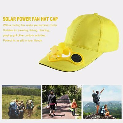 Summer Sport Outdoor Hat Cap With Solar Sun Power Cool Fan For Cycling VC