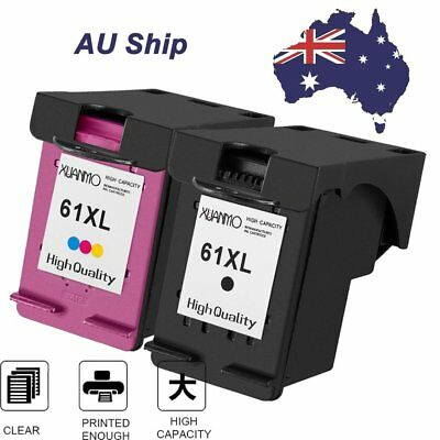 2x Ink Cartridges for HP 61 XL Envy 4500 4504 5530 Officejet 2620 4630 printer G