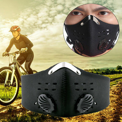 Anti Dust Motorcycle Bicycle Cycling Racing Bike Ski Half Face Mask Filter TT