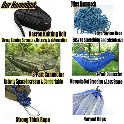 Double Person Travel Outdoor Camping Hammock Mosquito Insect Net Hanging Tent
