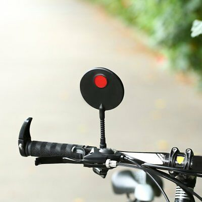 1pc Bike Bicycle Handlebar Flexible Rear Back View Rearview Mirror Black FU