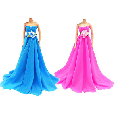 Baby Gilrs Princess Dream Wedding Dress Ball Gown Party Clothes For Barbie Doll