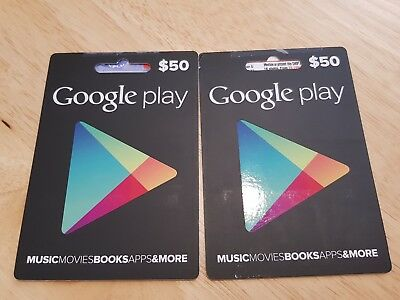 Google Play $100 (2x $50) Cards