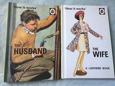 How it Works: The Husband & The Wife Ladybird Books for Grown-Ups Wedding Gift