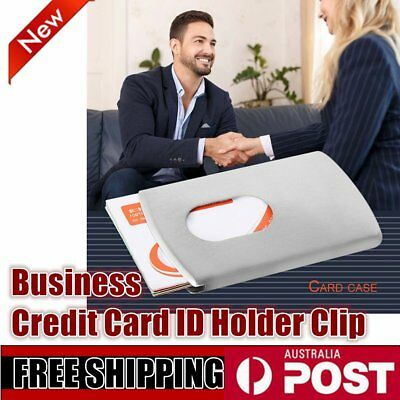Metal Stainless Steel Card Money Clip Business Credit Card ID Holder Clip P6