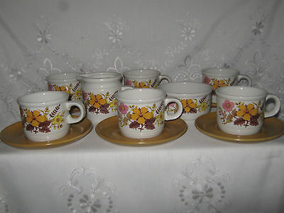 Vintage Retro Myott Ironstone Ware '' Meadow Sweet '' Tea Set, 14 Pieces