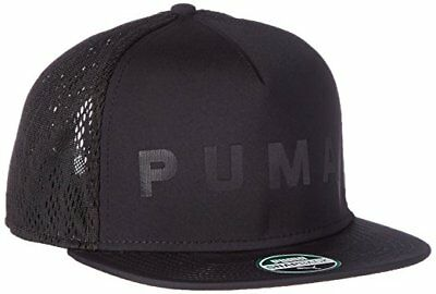 Mens Puma Evolution SB SnapBack Snap Back Baseball Cap Caps Black 021177 01