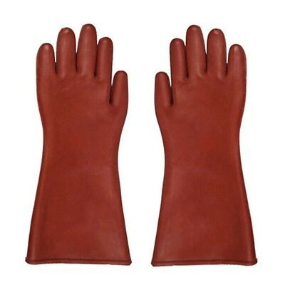 Insulated 12kv High Voltage Electrical Insulating Gloves For Electricians GU
