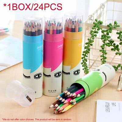24 Colors/Box Non-Toxic Painting Colored Pencils Students Drawing Color Pencil F