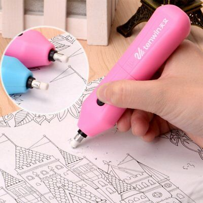 Automatic Rotary Electric Eraser Portable Fashion Student Eraser Use Battery F0