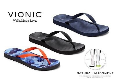 ad6304a7e1a1ab Vionic Manly Men s Flip Flop Orthotic Arch support Sandal £10 OFF RRP