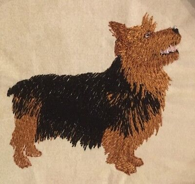 Australian Terrier, Hand Towel, Embroidered, Custom, Personalized, Dog