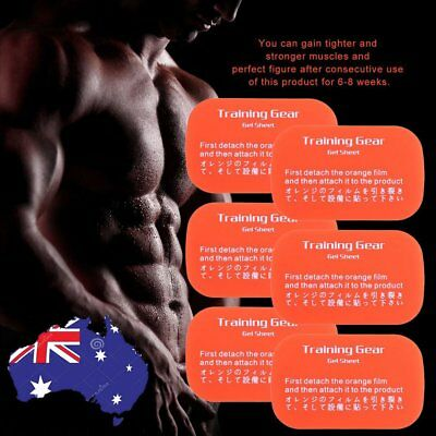 6pcs Adhesive Workout Muscle Patch Healthy Gym Trainning Gear Gel Sheet M1
