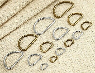 Antique Metal Dee Ring D Rings Webbing Buckles Strapping Belts Bags Leather Craf