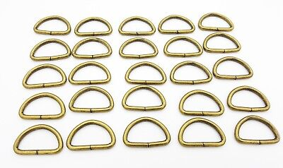 25mm Metal Hand Bag Purse Strap Belt Web Dee Rings D Ring Buckle Leather Craft