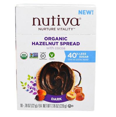 New Nutiva Organic Hazelnut Spread Dark Gluten Free Vegan Plant Food Ingredients