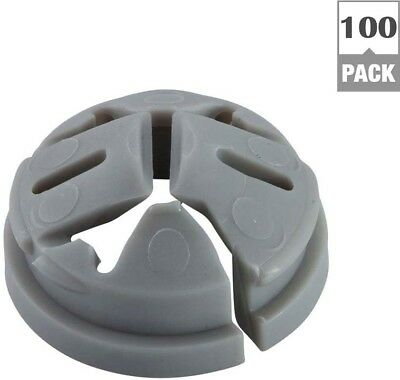Push-In Connector 100 Pack Halex Knockout Non-Metallic Plastic Construction