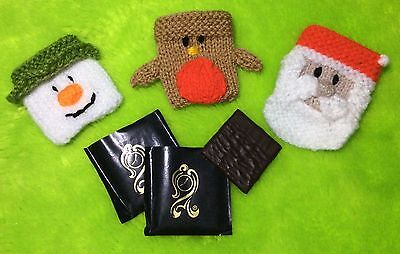 KNITTING PATTERN - Christmas Mint Covers fits After Eight- Santa, Snowman, Robin