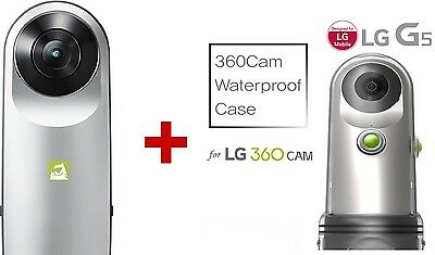 LG 360 CAM Spherical Camera wide angle LGR105 Original + Voia Waterproof Case