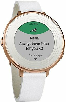 Pebble Time Round 14mm Smartwatch for Apple/Android Devices - Rose Or