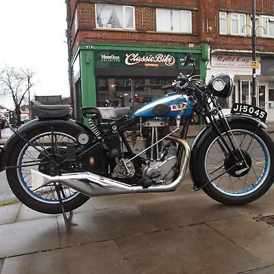 1931 BSA 350 L31/6 Deluxe Rare Vintage Classic Collectors, 3 Speed Hand Gears