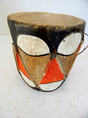 Small  Antique Pueblo Skin Drum- Taos Or Hopi