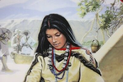 """Hamilton Collection """"Noble American indian Women"""" Sacajawea Plate By D. Wright"""