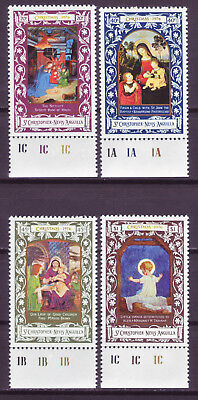 St. Kitts-Nevis 1976; Christmas (Paintings); Complete Set Of 4;sc # 328-331;mnh