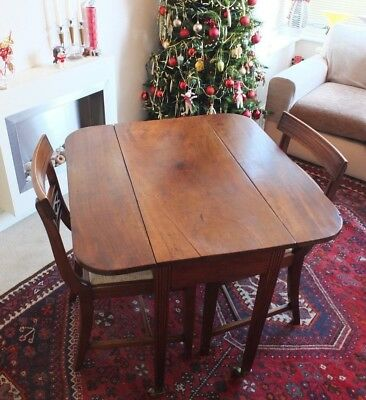 """PRICE REDUCED"" Lovely Georgian Pembroke Table + 2 Later Chairs..Good Condition"