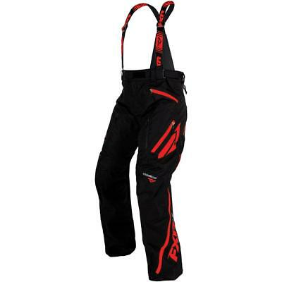 FXR Mission X 2017 Mens Snowmobile Bibs Black/Red