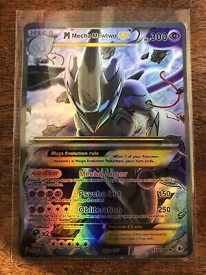 Pokemon Gx Ex Mega Dark Proxy Mega M Shiny Shinyng Mewtwo Shadow Full Art Foil