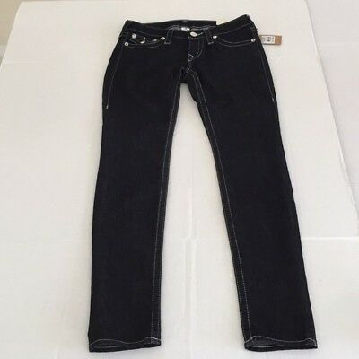 True Religion skinny black jeans size 28 and 27 free shipping