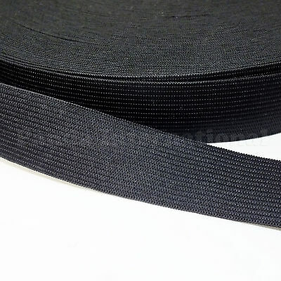 New Knitted Soft Elastic 2 inch Color Black, Fast Free Shipping from USA 50 yds