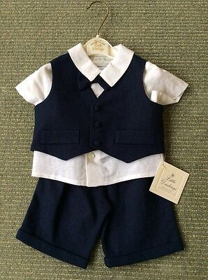 BNWT Boys Christening / Occasional 4 Piece Suit By Little Darlings (6 Months)