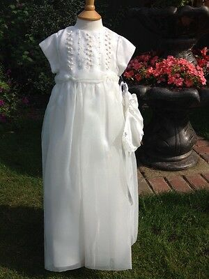 BNWT Girls Embroidered Christening Set By Sarah Louise (6 Months) **BARGAIN**