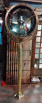 Vintage Marine Brass Fox Light With Stand 65.kg Nice Condition