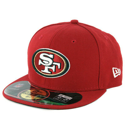 "New Era 59Fifty San Francisco 49ers ""Onfield"" Fitted Hat (Red) Kid's NFL Cap"