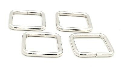 32mm Square Metal  Ring Webbing Buckles Strapping Belt for DIY Luggage Chrome