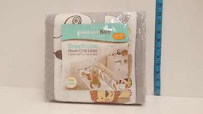 BreathableBaby Breathable Mesh Crib Liner Safari Fun 2 - FREE SHIPPING