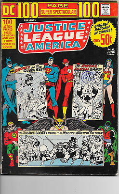 DC 100 Page Spectacular #7 Justice League Of America Bronze Age DC Comics F+