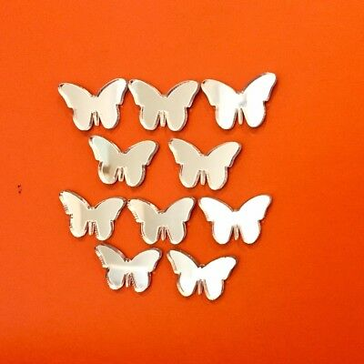 Pack of Butterfly Craft Scrapbook Card Embellishment Wedding Acrylic Mirrors