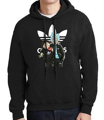 Rick and Morty - MENS BLACK HOODIE - Get Schwifty -