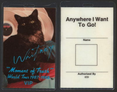 Rare Whitney Houston Laminated OTTO Backstage Pass from the 1987/88 Moment Tour