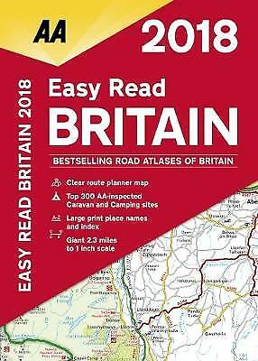 AA Easy Read Atlas Britain 2018, AA Publishing
