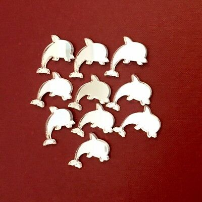 Pack of Dolphin Craft Scrapbook Card Embellishment Wedding Decor Acrylic Mirrors