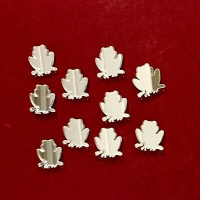 Pack of Frog Craft Scrapbook Card Embellishment Wedding Decor Acrylic Mirrors